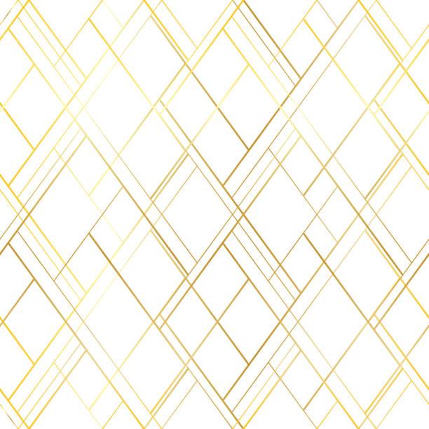 プレミアム スタイルのシームレスなパターン。白い背景の上の金色の十字線 - 美しさ点のイラスト素材/クリップアート素材/マンガ素材/アイコン素材