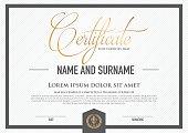 Premium vector design certificate. luxury, modern, .