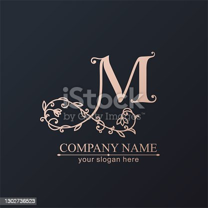 istock Premium Vector M logo. Monnogram. Personal logo or sign for branding an elite company. 1302736523