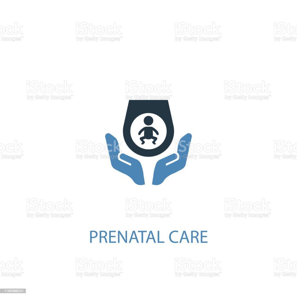 Prenatal care concept 2 colored icon. Simple blue element...