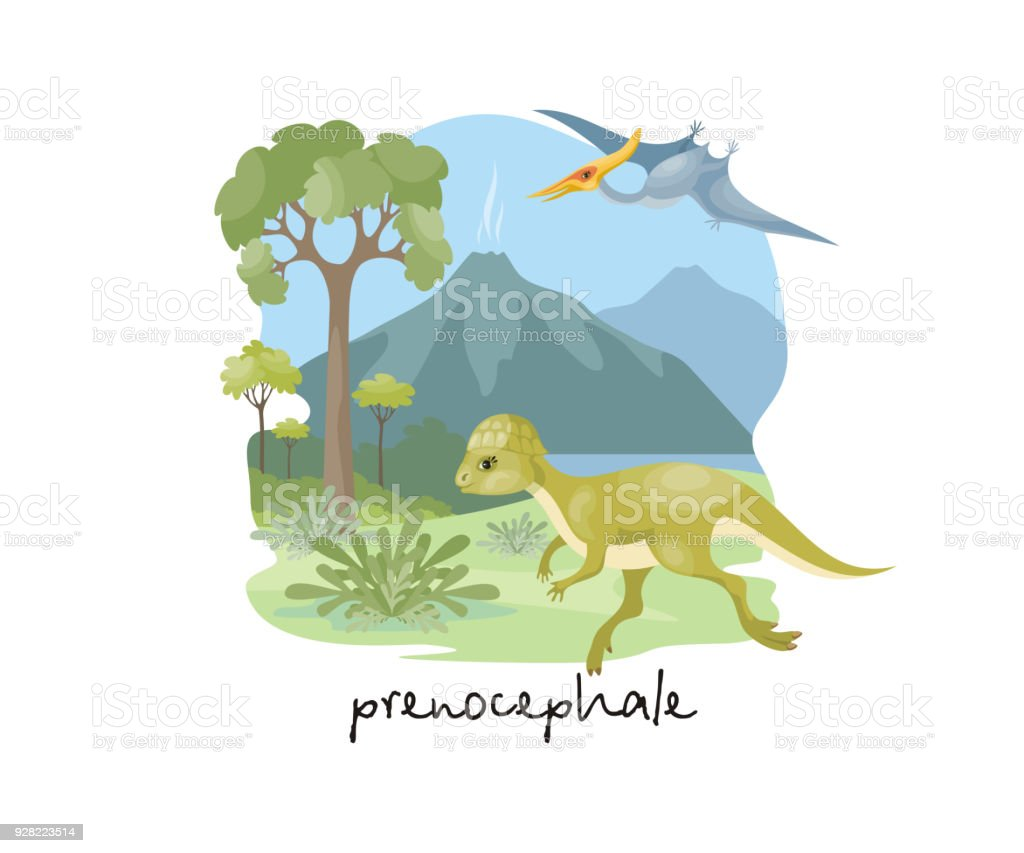Prenocephale In Cartoon Style Stock Vector Art & More Images of ...