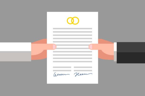 illustrations, cliparts, dessins animés et icônes de prenuptial agreement - notaire