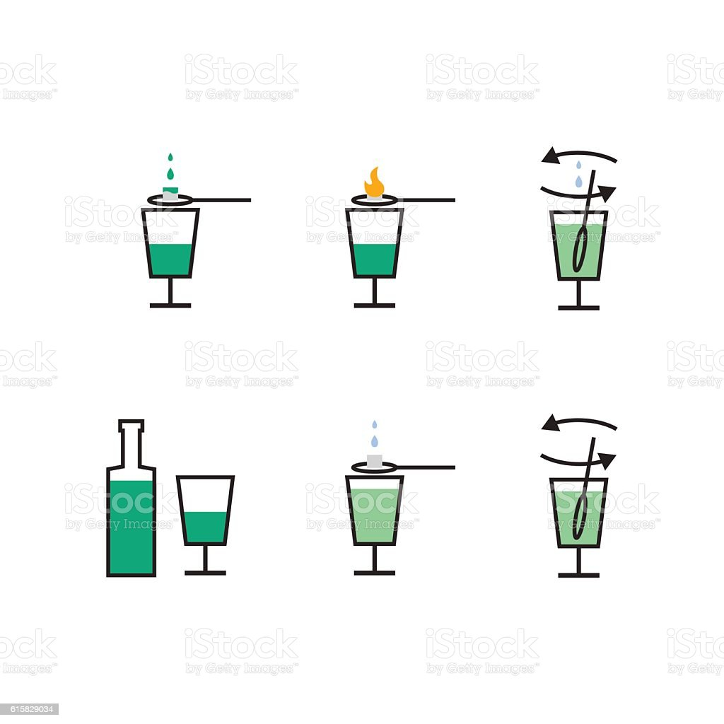 Preparation of absinthe liqueur