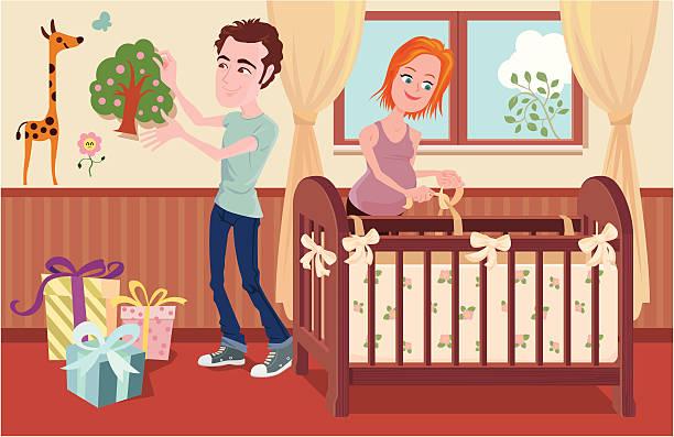 bereiten sie sich auf das neugeborene - elternhochzeitsgeschenke stock-grafiken, -clipart, -cartoons und -symbole