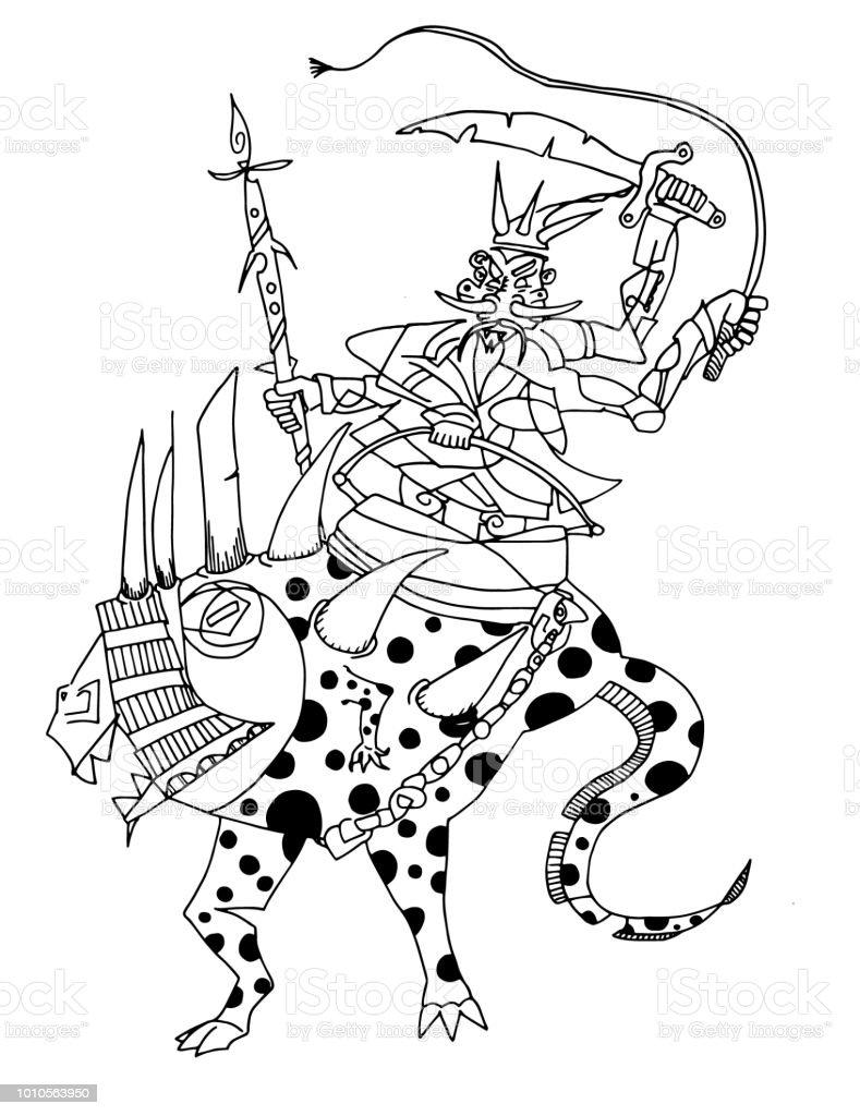 Ilustración De Preparado Para La Batalla Caballo Arte Del Clip Del