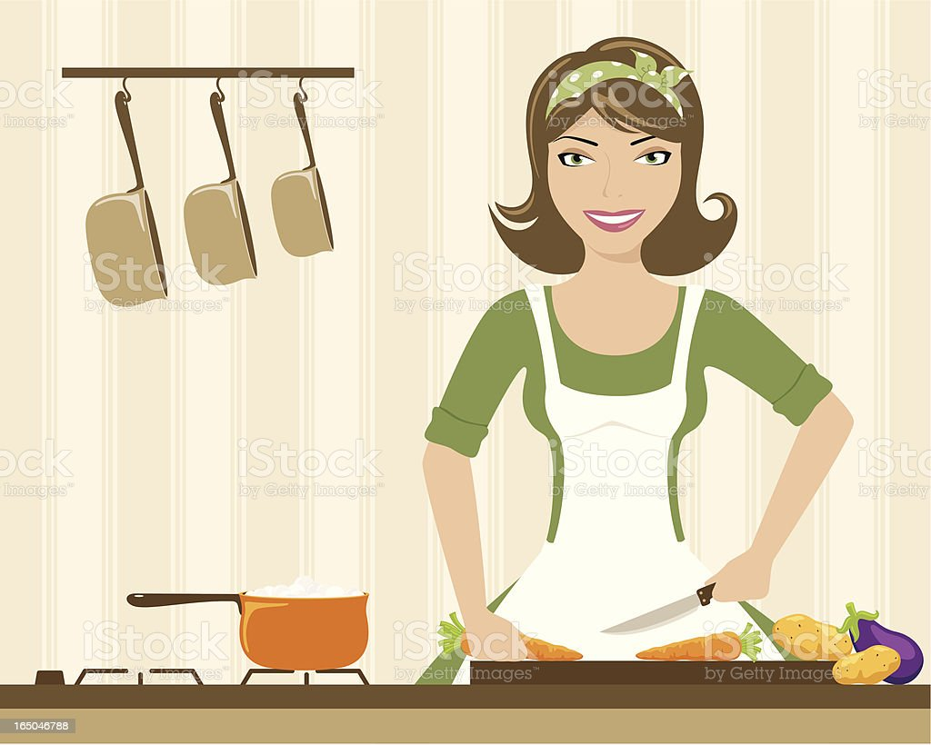 Preparing Dinner - incl. jpeg royalty-free stock vector art