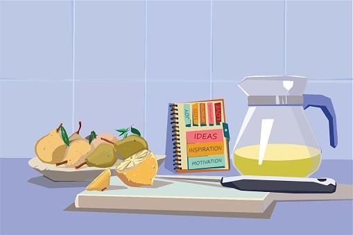 Preparing lemonade stock illustration