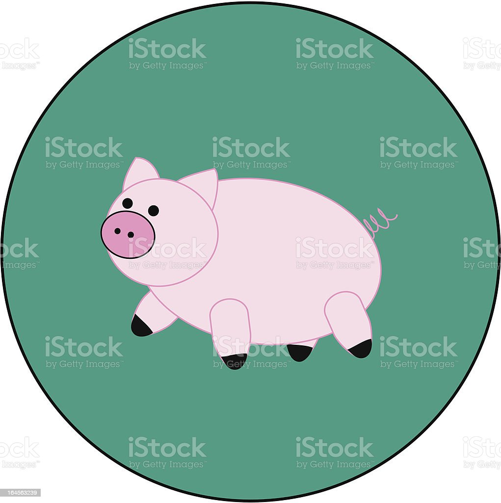 Preppy piggy royalty-free stock vector art