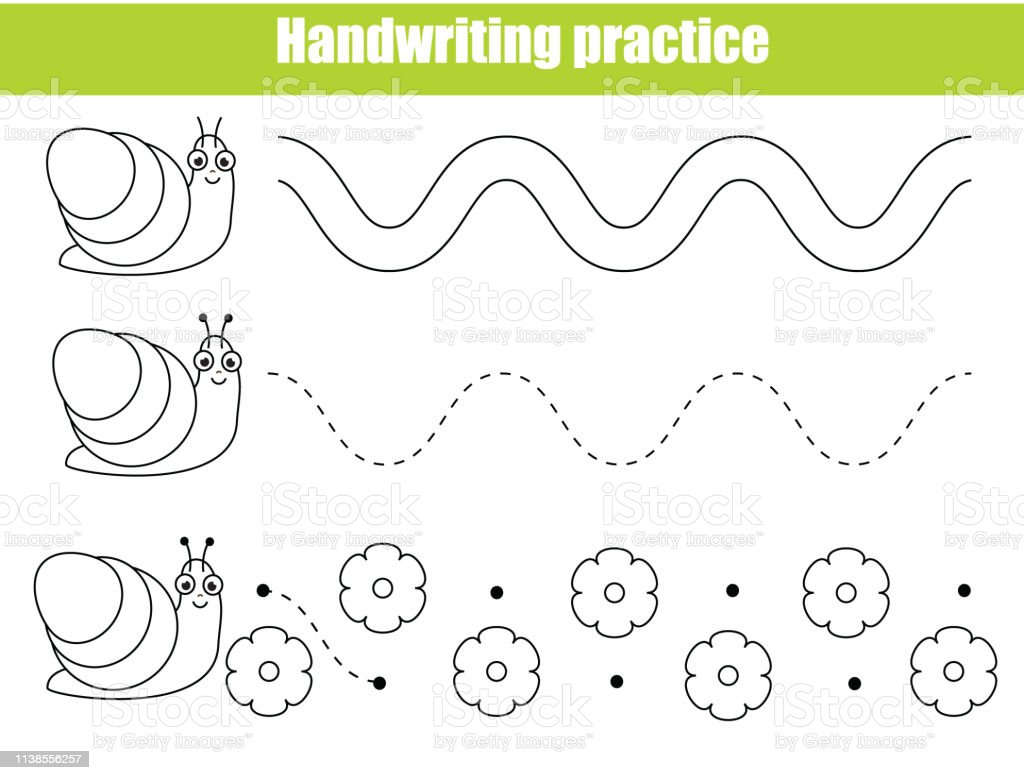 - Preschool Handwriting Practice Sheet Educational Children Game