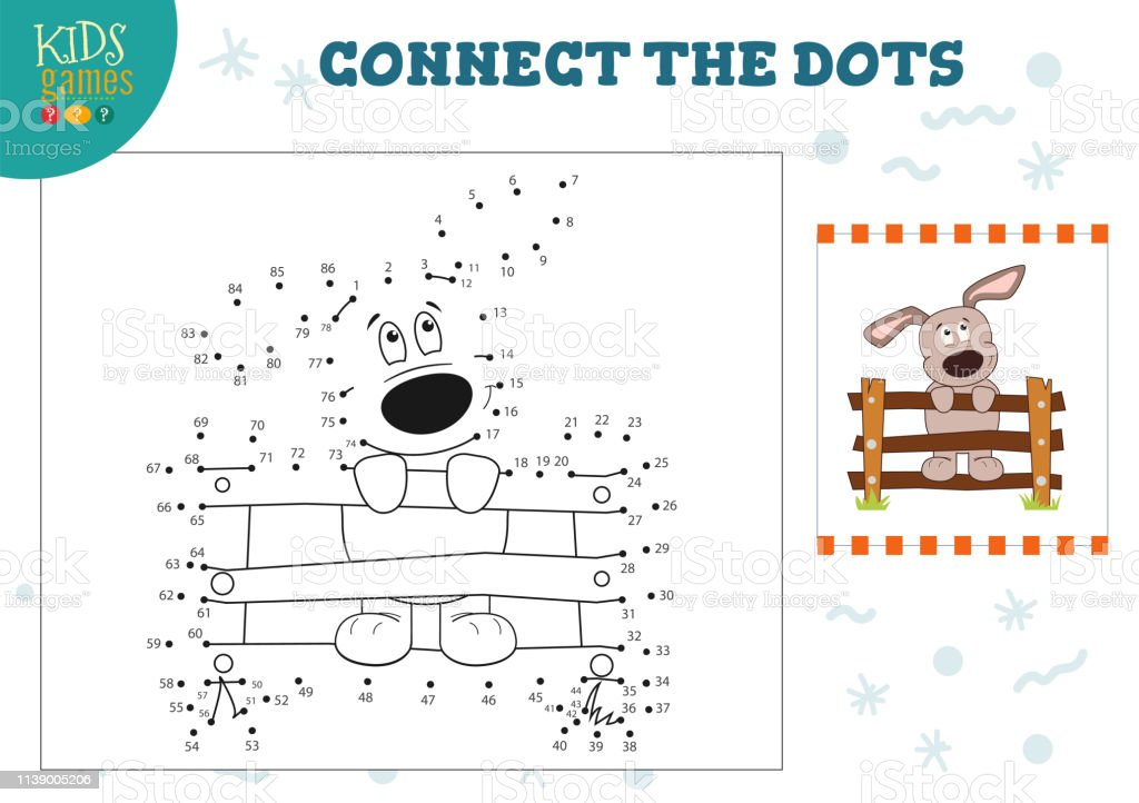 Preschool Kids Game With Connect The Dots Game Vector Illustration Stock Illustration Download Image Now Istock