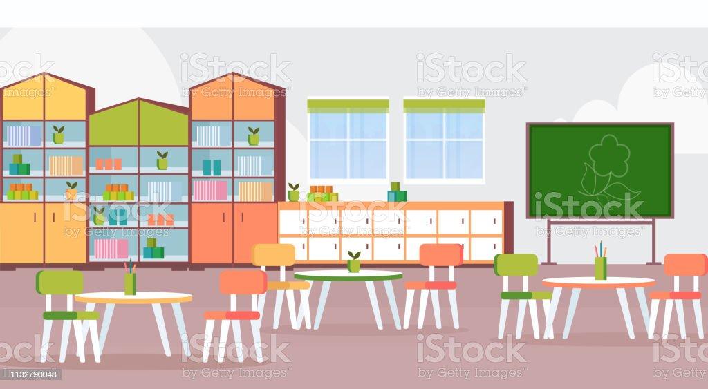Ilustración De Preescolar Moderno Jardín De Infantes Niños
