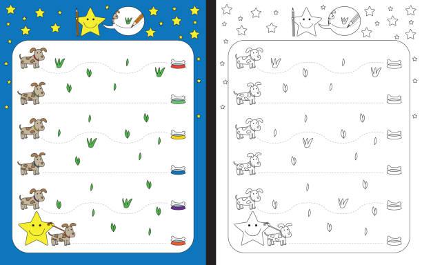 Planilha pré-escolar - ilustração de arte em vetor