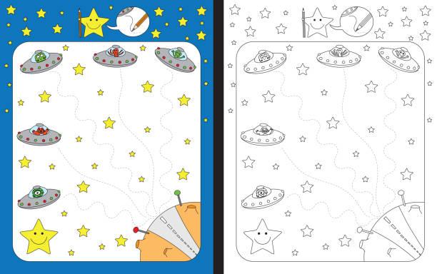 Planilha de pré-escolar - ilustração de arte em vetor