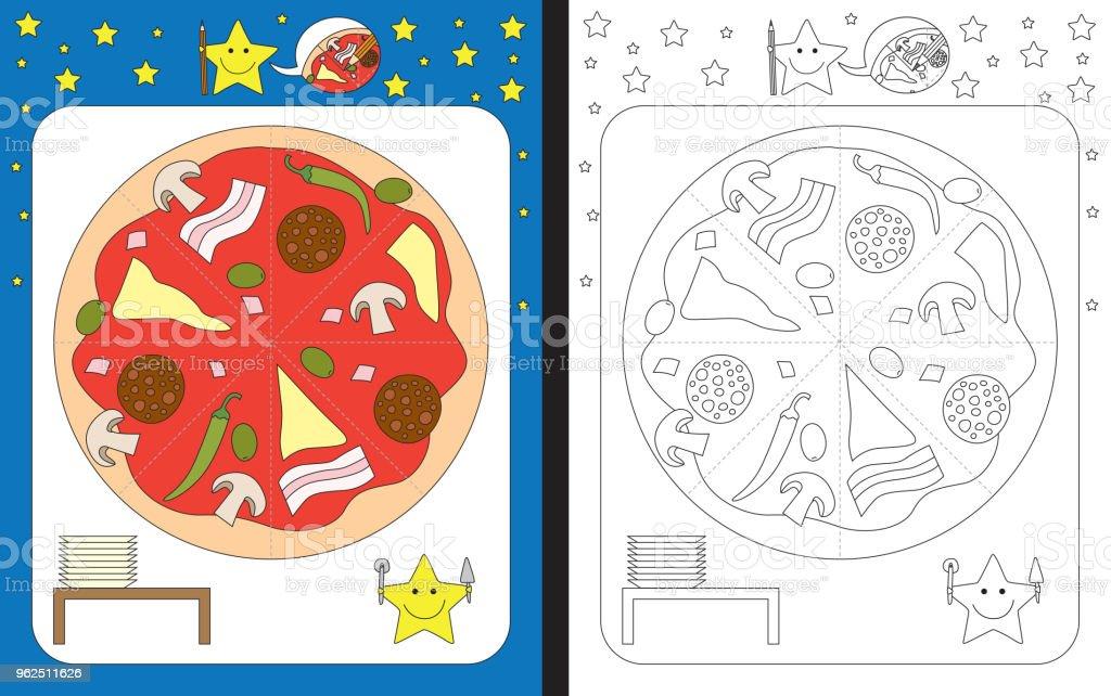 Planilha de pré-escolar - Vetor de Aprender royalty-free