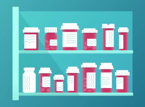 illustrazioni stock, clip art, cartoni animati e icone di tendenza di prescription medicine - farmaco su prescrizione