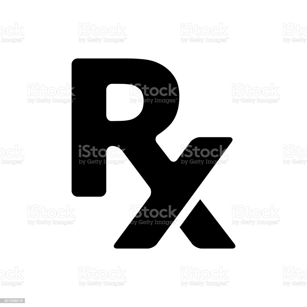 Prescription Rx vector art illustration
