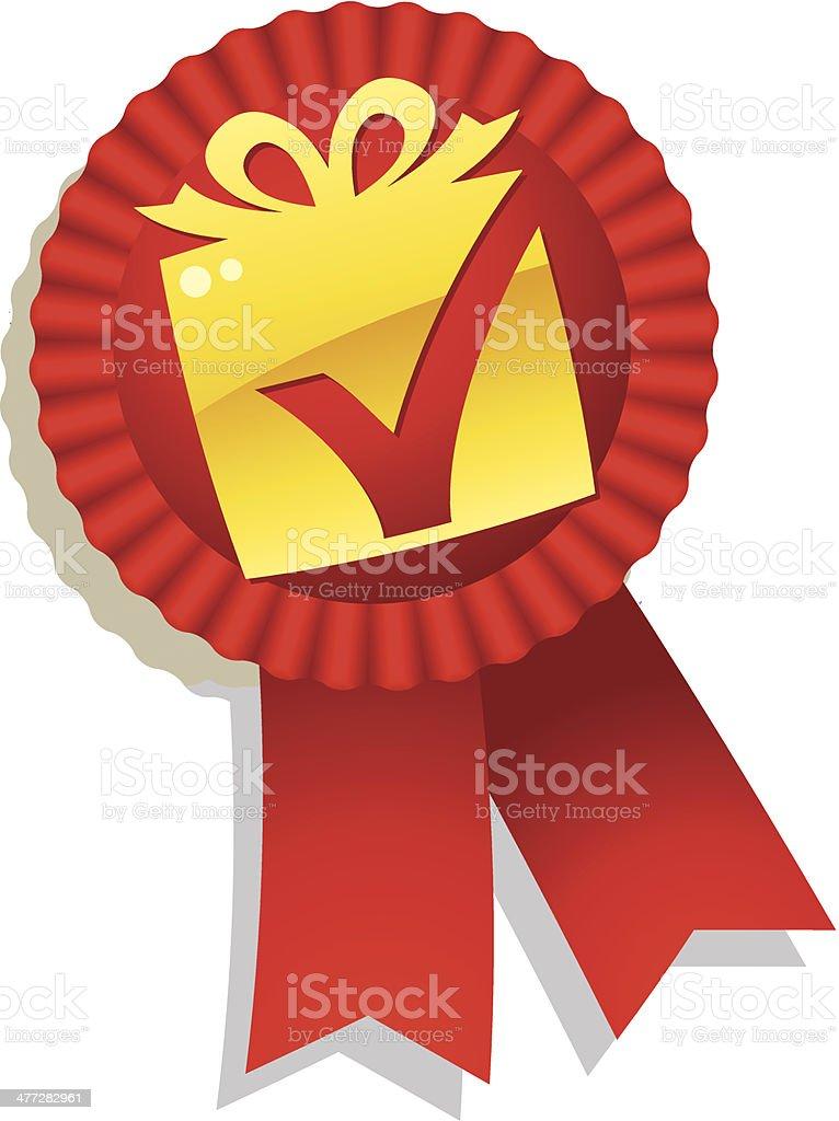 Present Award C royalty-free present award c stock vector art & more images of check mark