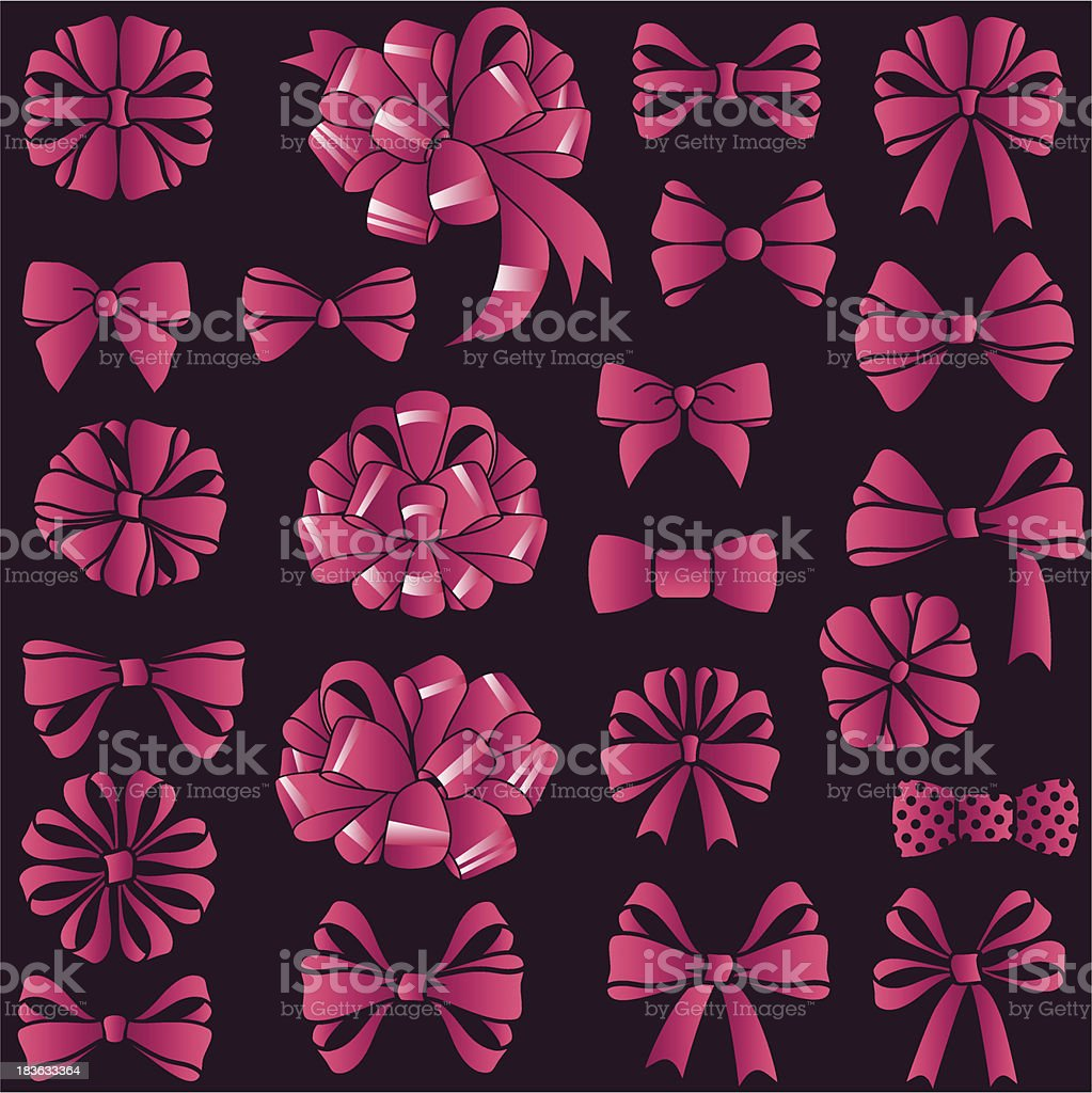 present bows set royalty-free stock vector art