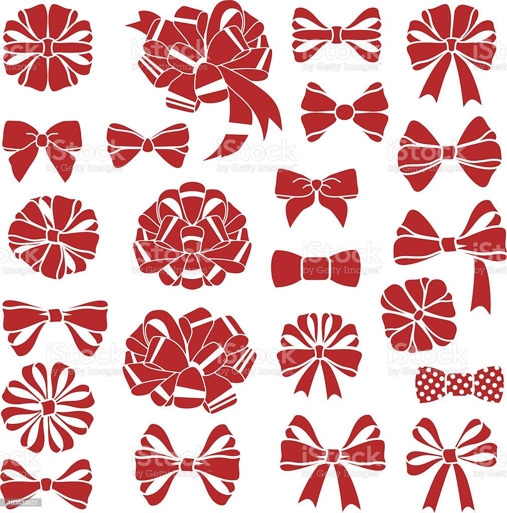 present bows vector art illustration