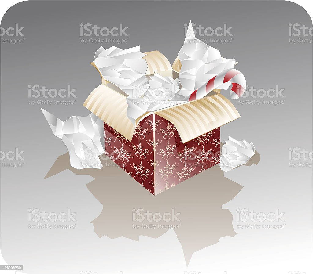 present box vector art illustration