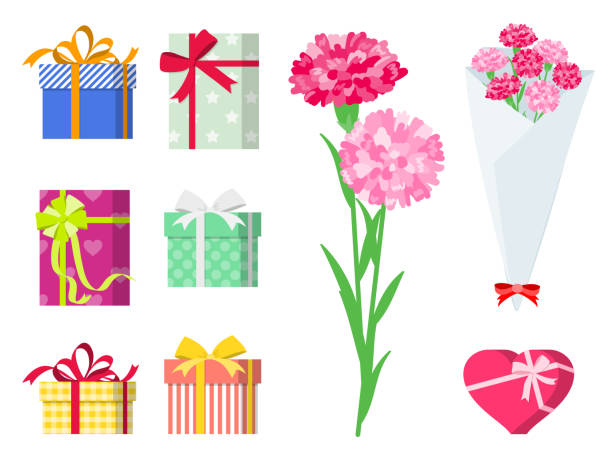 愛する ones_gift セット プレゼント - 花束点のイラスト素材/クリップアート素材/マンガ素材/アイコン素材