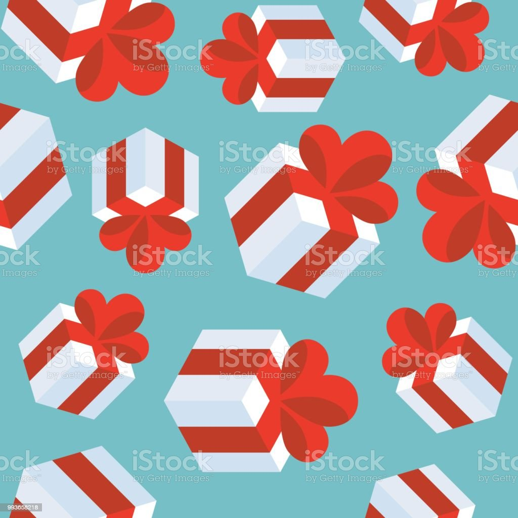 Present Gift Box Seamless Pattern Suitable For Use As Wrapping Paper