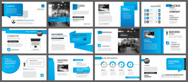 Presentation and slide layout template. Design blue gradient in paper shape background. Use for business annual report, flyer, marketing, leaflet, advertising, brochure, modern style. Presentation and slide layout template. Design blue gradient in paper shape background. Use for business annual report, flyer, marketing, leaflet, advertising, brochure, modern style. blue drawings stock illustrations