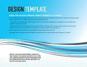Presentation aqua blue swoosh polygonal template with sample text layout