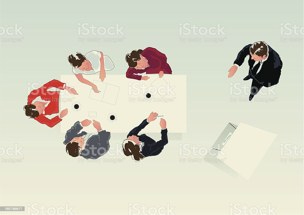 presentation at flipchart royalty-free stock vector art