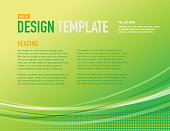 Presentation Bright green Design layout template sample flyer