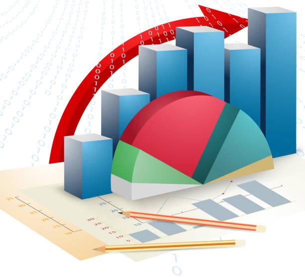 Présentation graphique bar affaires - Illustration vectorielle