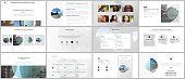 Presentation design vector templates, multipurpose template for presentation slide, flyer, brochure cover design with abstract circle banners. Social media web banner. Social network photo frame