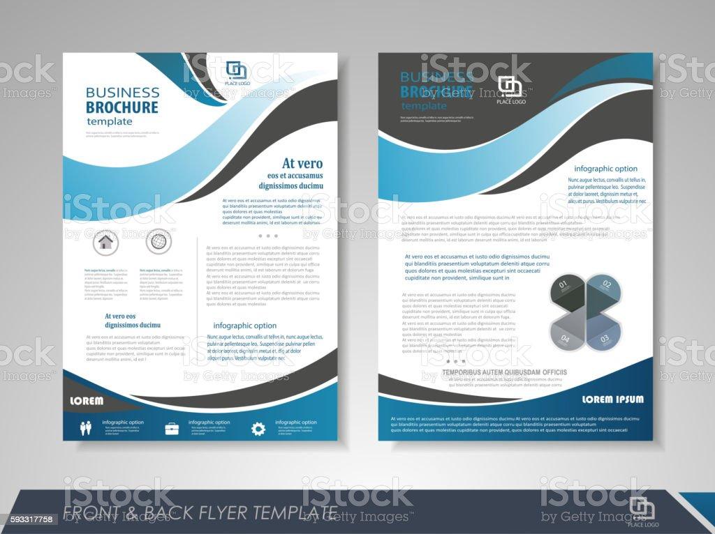 Presentation flyer concept vector art illustration
