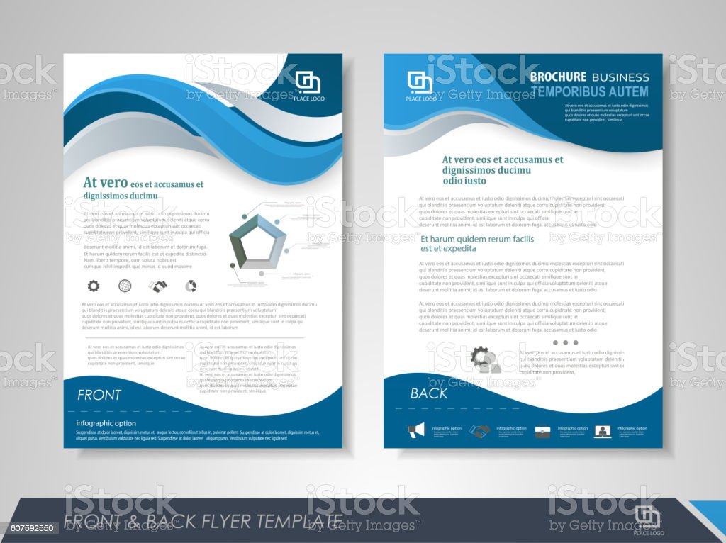 Presentation flyer concept royalty-free stock vector art