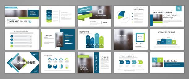 ilustrações de stock, clip art, desenhos animados e ícones de presentation flyer set - modelos