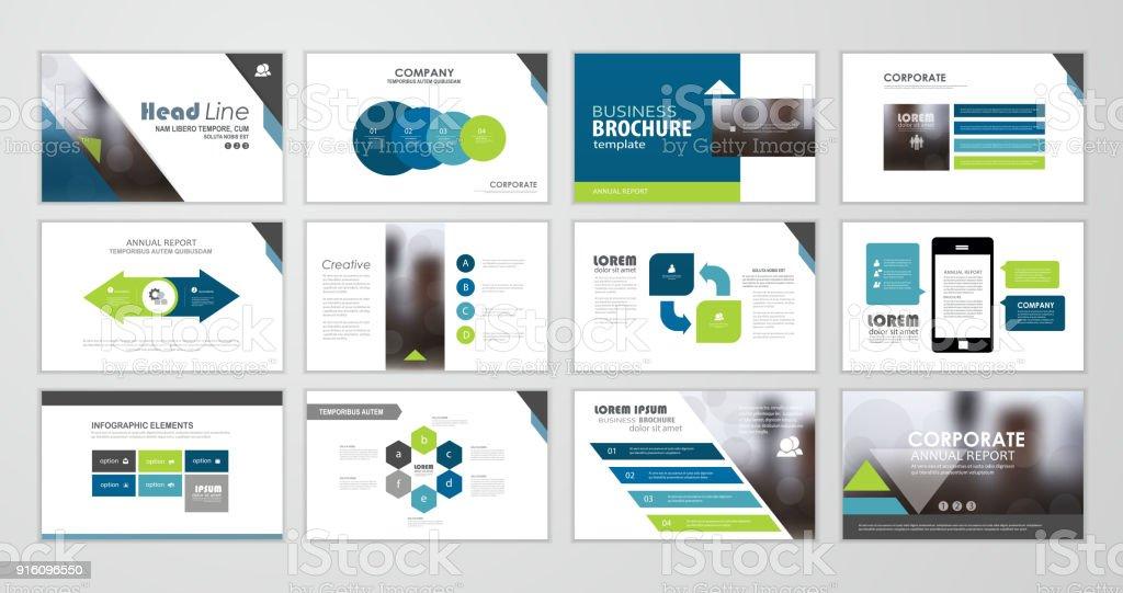 Presentation flyer set векторная иллюстрация