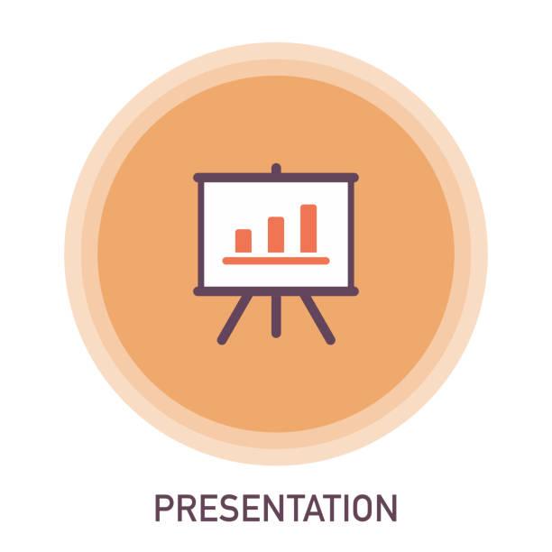 ilustrações de stock, clip art, desenhos animados e ícones de presentation icon - training