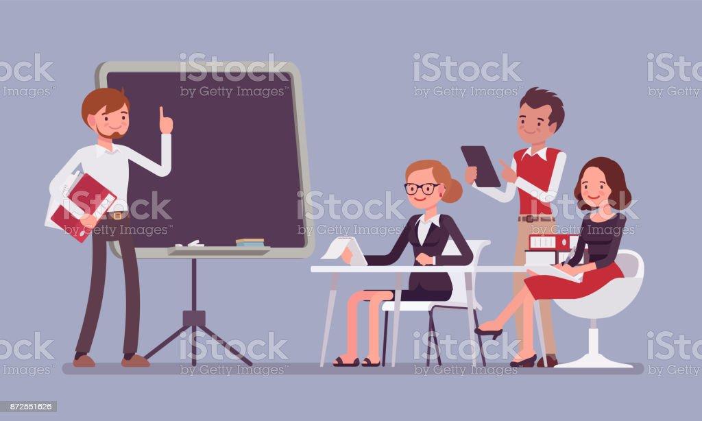Präsentation im Büro – Vektorgrafik