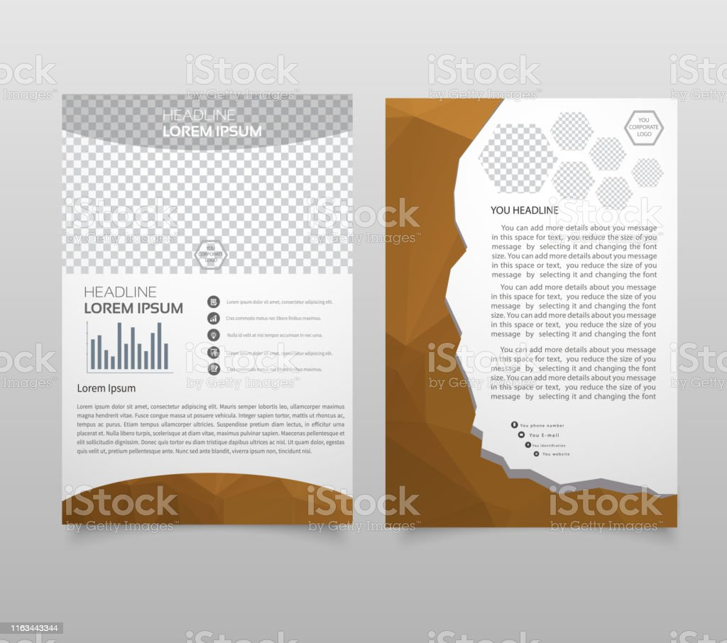 Presentation Layout Design Template Annual Report Cover Page Business Brochure Or Flyer Design Modern Background Stock Illustration Download Image