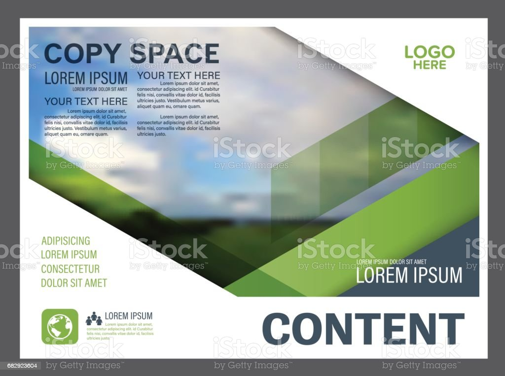Charming Presentation Layout Design Template. Annual Report Cover Page. Landscape  Nature Background. Illustration Vector  Annual Report Cover Page Template