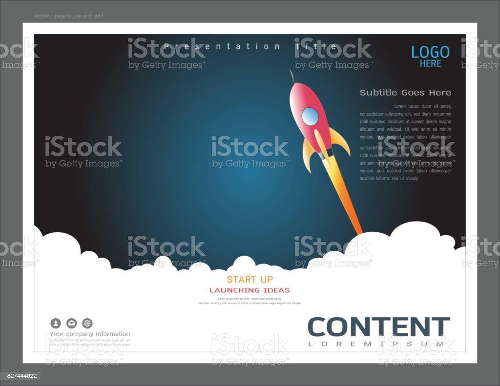 Plantilla De Diseño Diseño De Presentación Uso En Arranque De ...