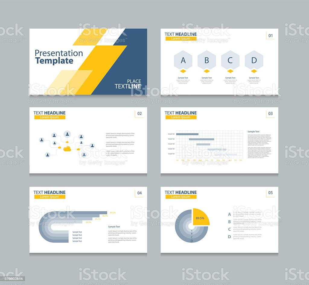 presentation layout design template アイデアのベクターアート素材や