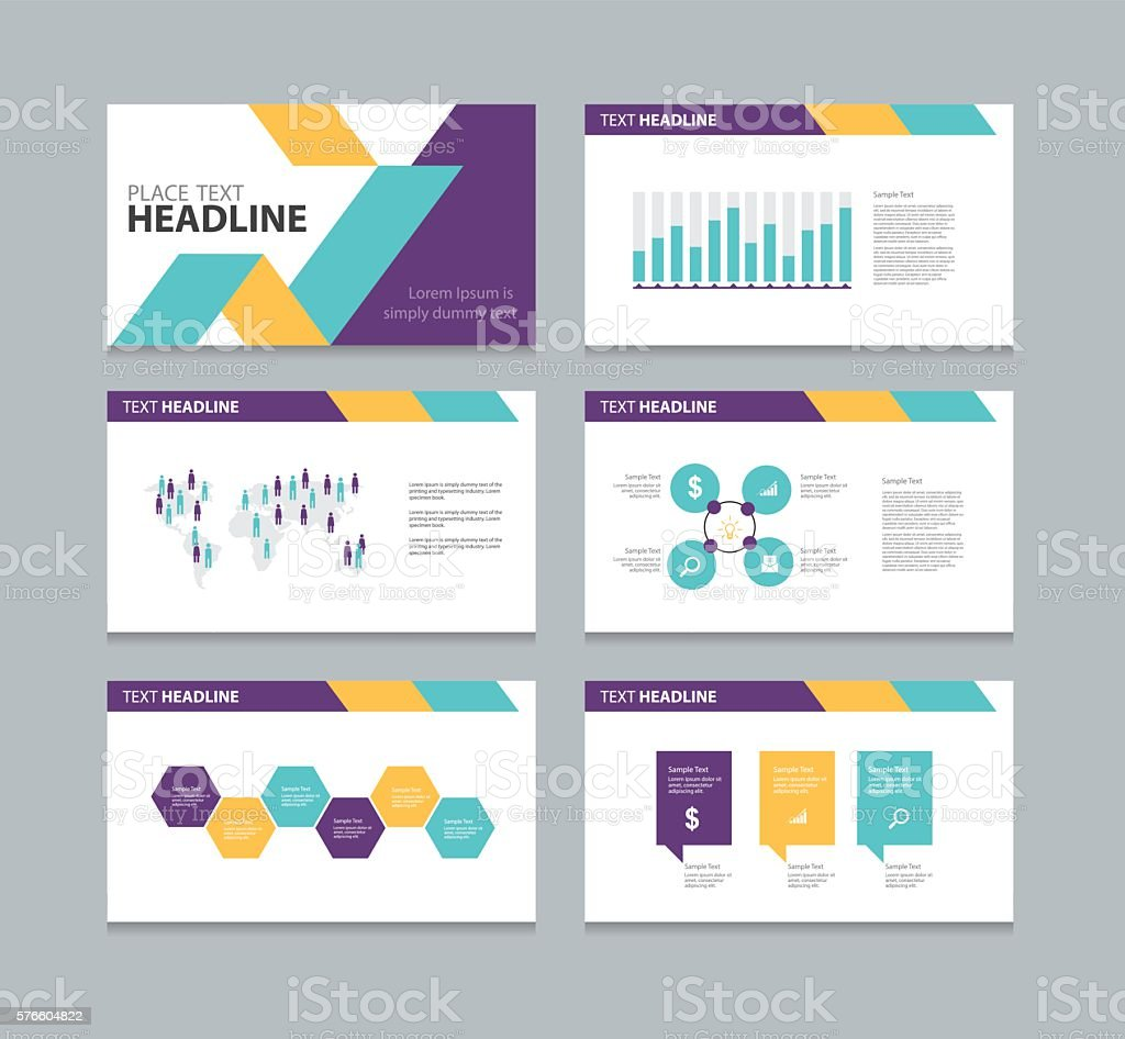 presentation layout design template stock vector art