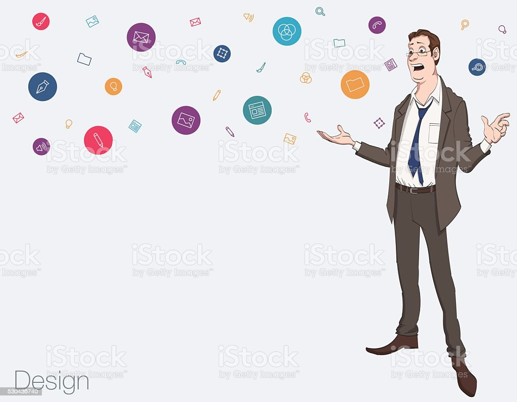 presentation of business product project report stock vector art