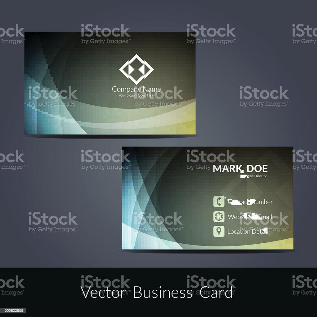 Presentation of visiting card design vector art illustration