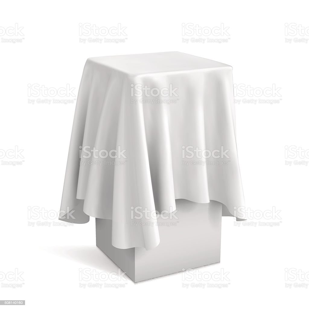 Presentation pedestal covered with vector art illustration
