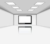 Presentation screen in room