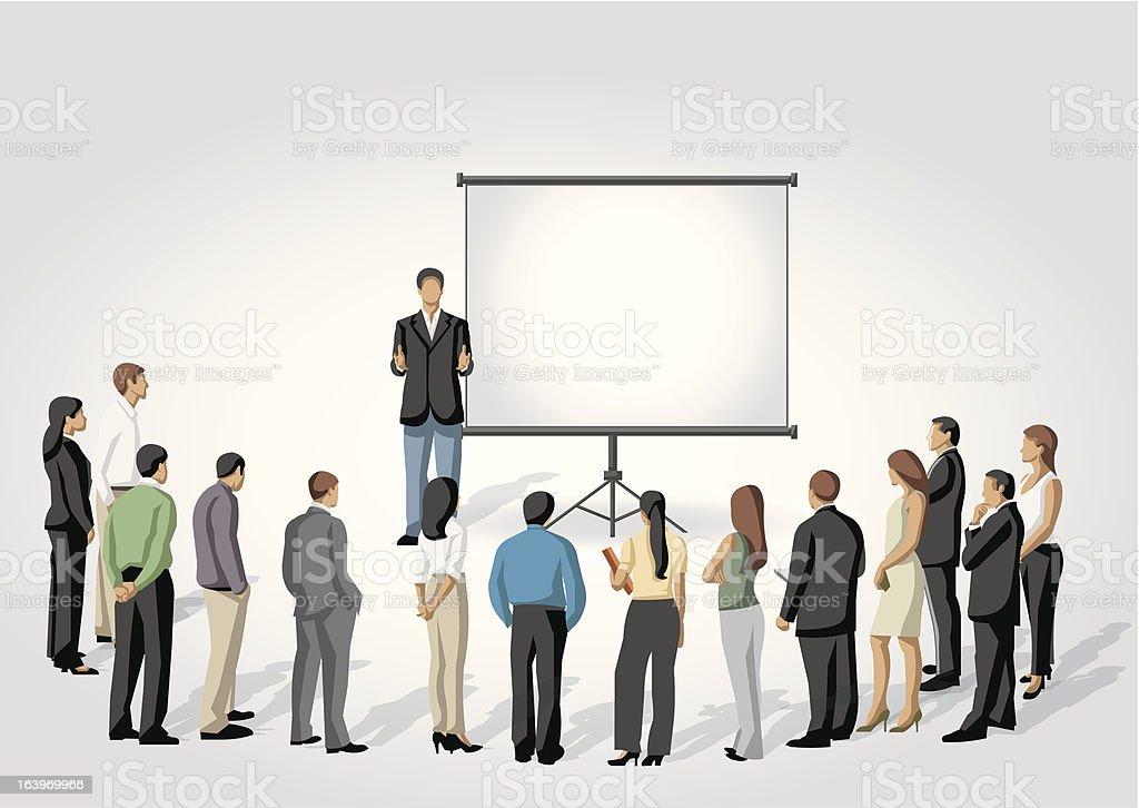 Presentation screen. royalty-free stock vector art