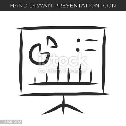 istock Presentation Single Line Icon 1330910783