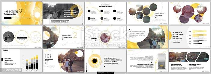 istock Presentation Slide Design Templates on a white background. Vector infographics. 1282450809